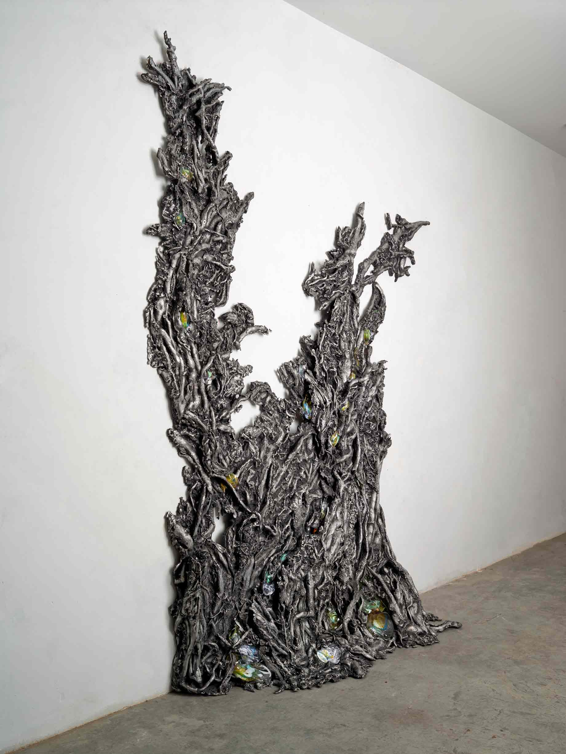 ENTWINED GROWTH VI, 2019 by Cristina Iglesias. Sculpture in Aluminum and glass produced in Alfa Arte