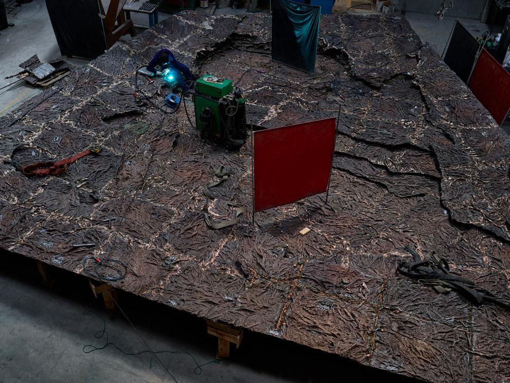 Cristina Iglesias, proyecto ARROYOS OLVIDADOS - FORGOTTEN STREAMS. Bronce. Realizado en Alfa Arte, para Bloomberg Place, Londres