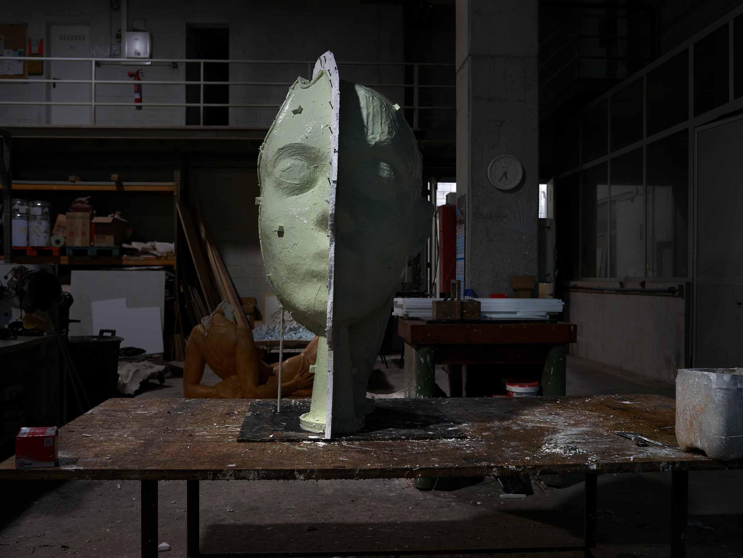 Proceso fabricación molde para las esculturas PAX y OUVERTÜRE de Jordi Díez, en Acero Inoxidable Super Duplex 5A. Alfa Arte