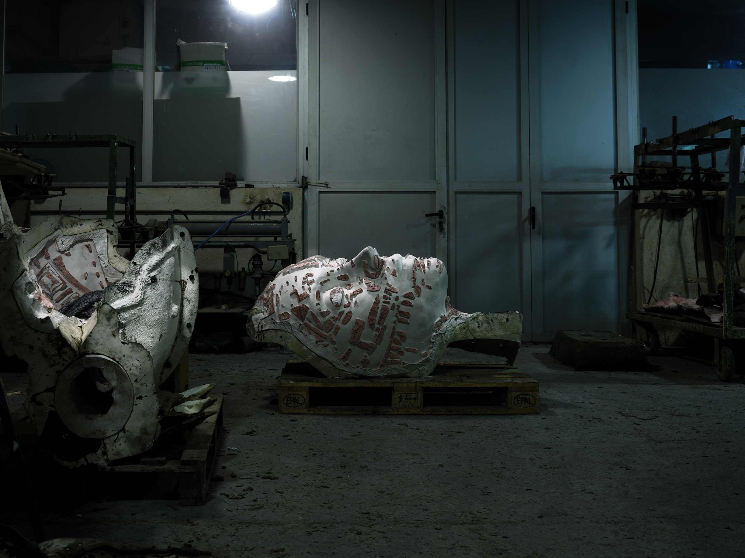 Proceso fabricación molde para las esculturas PAX y OUVERTÜRE del escultor Jordi Díez, en Acero Inoxidable Super Duplex 5A. Alfa Arte