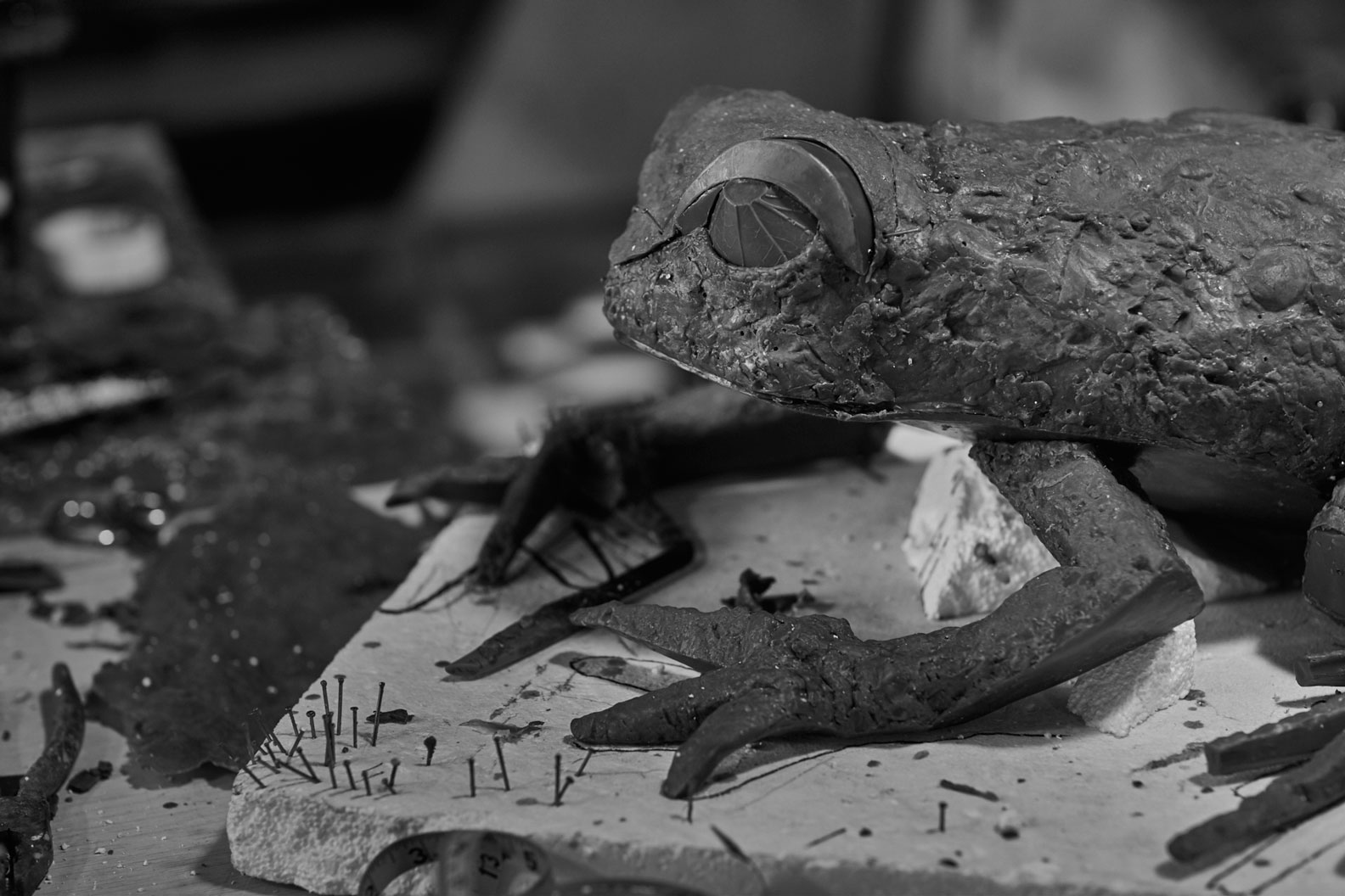 Katherine Taylor FROGS project, wax phase. Alfa Arte